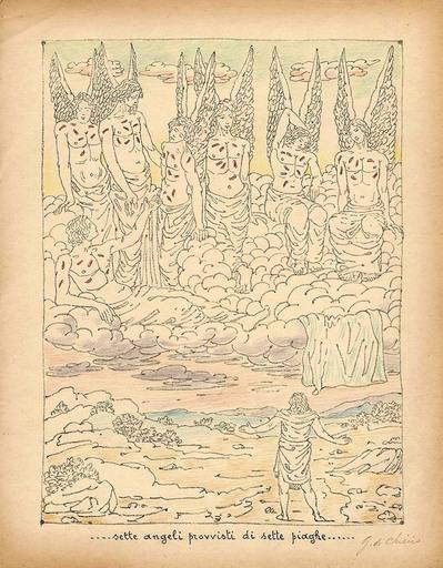 乔治•德•基里科 - 版画 - ...sette angeli provvisti di sette piaghe...,1941
