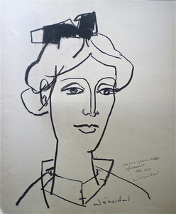 André MARCHAND - Drawing-Watercolor - Arlésienne