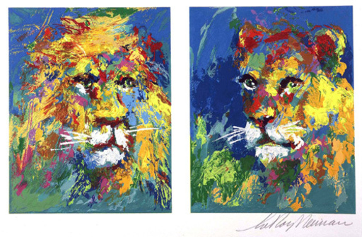 LeRoy NEIMAN - Print-Multiple - Lion and Lioness
