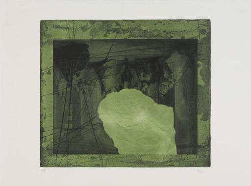 Antoni CLAVÉ - Print-Multiple - En Noir et Vert