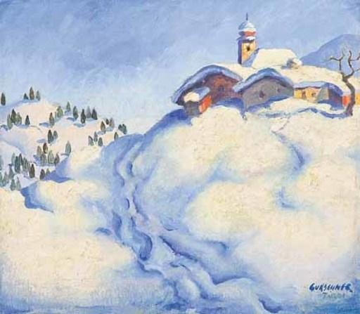 Herbert GURSCHNER - Pintura - Winterlandschaft