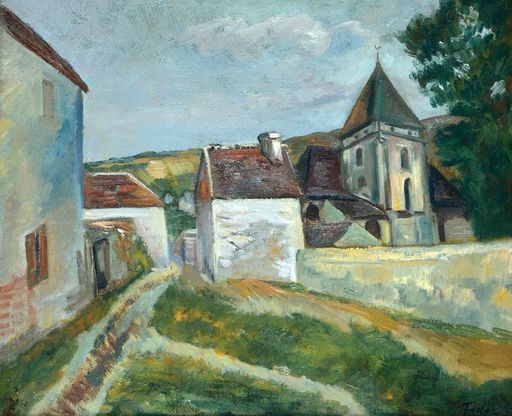 Adolphe FEDER - Painting - Street in a Village in France