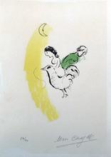 Marc CHAGALL - Estampe-Multiple - Le Coq au Croissant