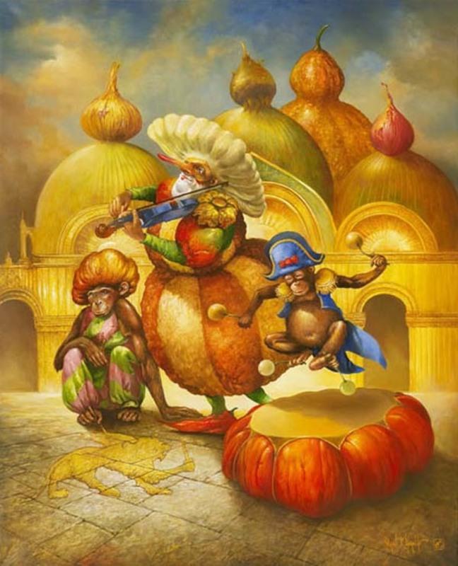 Serge VAN KHACHE - Painting - La parade