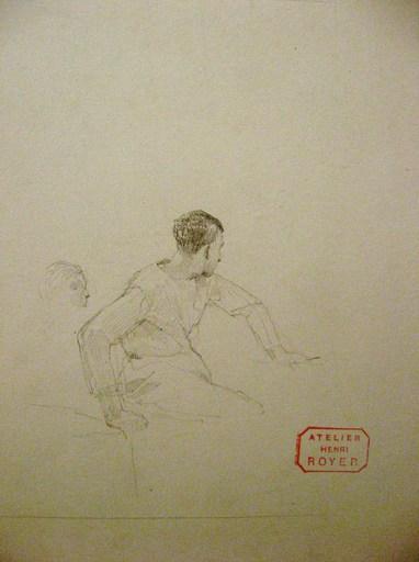 Henri-Paul ROYER - Zeichnung Aquarell - PORTRAIT DE MARIN