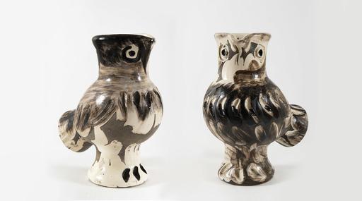 Pablo PICASSO - Ceramic - Couple de chouettes