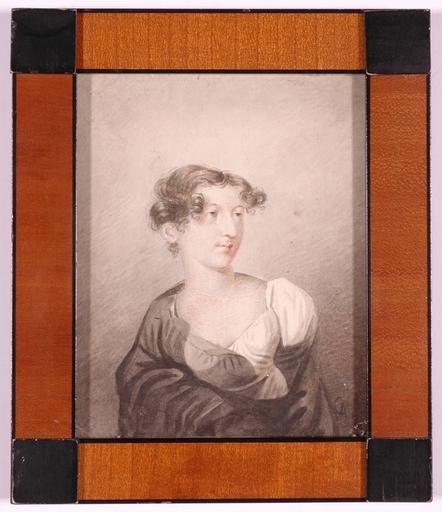 """Alexei Yegorovitch EGOROV - Dessin-Aquarelle - """"Portrait of a Young Woman"""" by Alexei Egorov , ca 1810"""