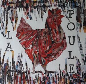 Christiane GUERRY - Painting - LA POULE