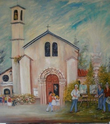Jean-Claude LELIEVRE - Peinture - une journée peinture à valbonne