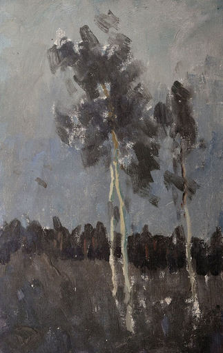 Johann WALTER-KURAU - Painting - Drei junge Birken