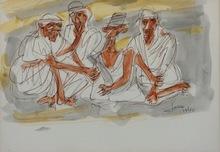 Marcel JANCO - Drawing-Watercolor - Bedouins