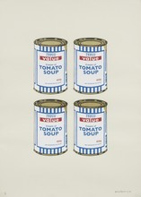BANKSY - Estampe-Multiple - Four Soup Cans