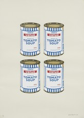 BANKSY - Estampe-Multiple - Four Soup Cans