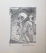 皮埃尔·阿列钦斯基 - 版画 - Deux personnages