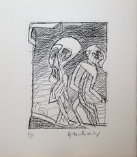 Pierre ALECHINSKY - Grabado - Deux personnages