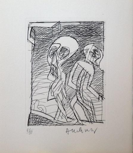 Pierre ALECHINSKY - Estampe-Multiple - Deux personnages