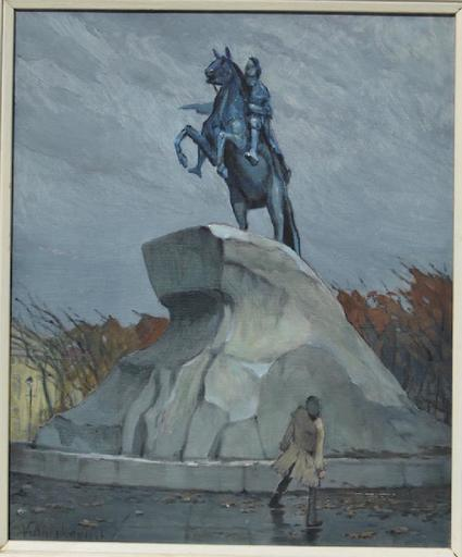Vladimir ANTIHOVITCH - Pintura - The Bronze Horseman - a monument to Peter the Great in St. P