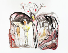 Christian WEININGER - Drawing-Watercolor - sans titre (women)