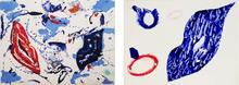 山姆•弗朗西斯 - 版画 - Untitled 1 & 2 (set of 2 monotypes from the Baby Lips Series
