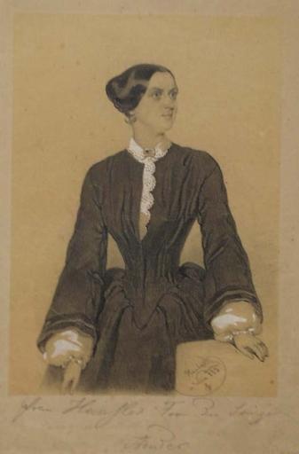"""Anton HAALA - Zeichnung Aquarell - """"Portrait of a Lady"""" by Anton Haala"""