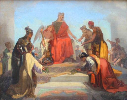 Annibale GATTI - Painting - Scena allegorica