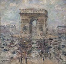 古斯塔夫·罗瓦索 - 绘画 - L'arc de Triomphe, Place de l'étoile