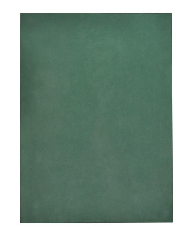 Ettore SPALLETTI - Painting - Verde con bordi argento