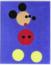 达米恩•赫斯特 - 版画 - Mickey (Blue Glitter)