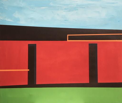 Diego MOVILLA - Peinture - Sans titre, série Cités inconnues