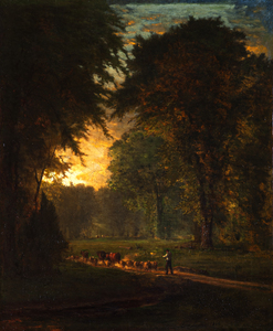 George INNESS - Painting - THE CLOSE OF DAY