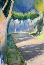Luciana LA MARCA - Painting - ANGUILLARA ROUTE
