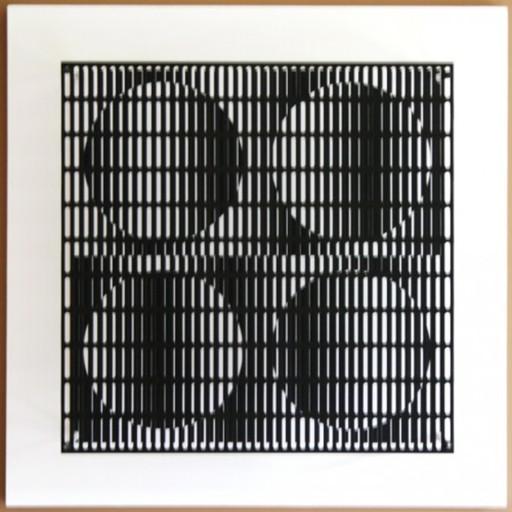 Antonio ASIS - Print-Multiple - vibration 4 cercles noir et blanc