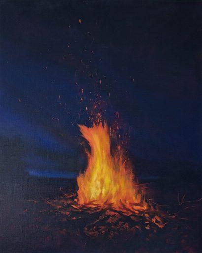 Guillaume MONTIER - Painting - « L'étincelle »