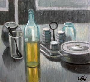 Valeriy NESTEROV - Pittura - Still Life with Pan