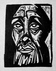 Hermann Max PECHSTEIN - Print-Multiple - Tête
