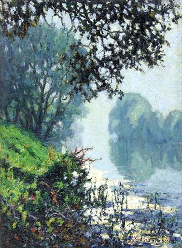 Raymond THIBÉSART - Pittura - Brume, bord de Seine