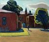 Valeriy NESTEROV - Painting - The yard on Sergiy Radonezhskiy Street. Moscow