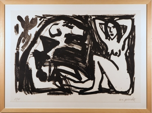 A.R. PENCK - Estampe-Multiple