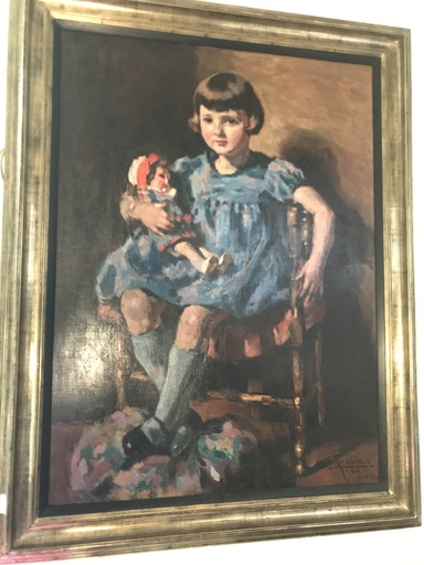 Jean COLIN - Peinture - Jeune fille à la poupée