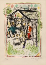 Marc CHAGALL (1887-1985) - The artist at the village I