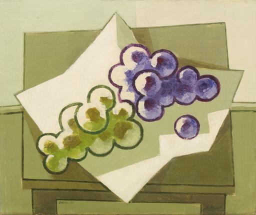 Shalom Siegfried SEBBA - Pittura - Green and purple grapes