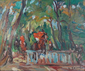 Adrienne Lucie JOUCLARD - Pintura - Saut d'obstacle