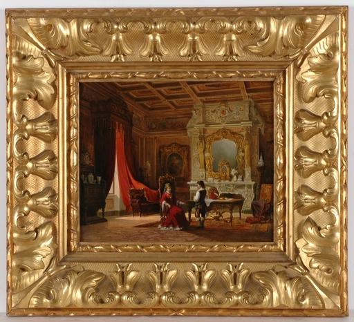 "Achile BATIZTUTZZI - Gemälde - ""Interior Scene"", 1876"