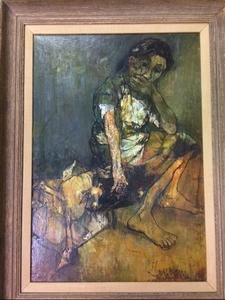 Jean JANSEM - Painting - Seated woman