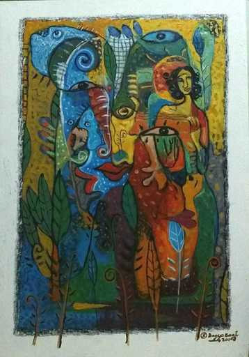 R.U. SUBAGIO - Painting - Caress of Mangrove Forest