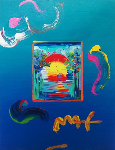 Peter MAX - Pittura - Better World (Overpaint)