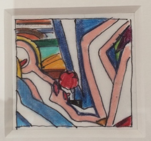 Tom WESSELMANN, Drawing for Sunset Nude