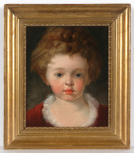 "Friedrich Ritter VON AMERLING (Attrib.) - Pittura - ""Portrait of a little girl"" oil, ca. 1850"