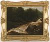 Franz SCHEYERER - Painting - Float in Tyrol, 1837, Oil on Canvas