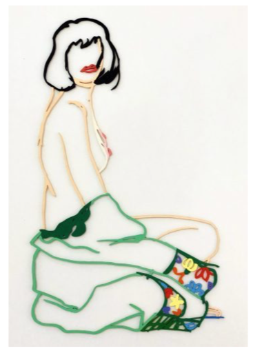 Tom WESSELMANN - Scultura Volume - Monica With Robe Half Off